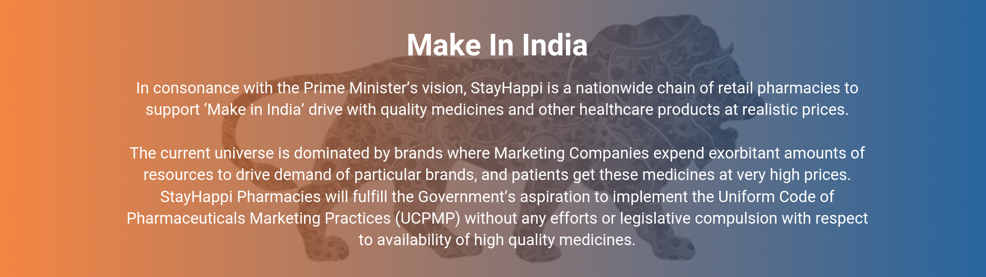 StayHappi Pharmacy - Make in India Support