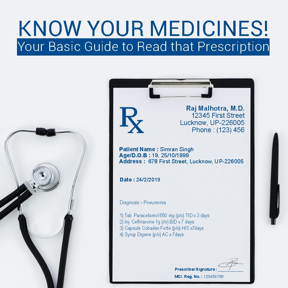 Know Your Medicines! Your Basic Guide to Read That Prescription | StayHappi