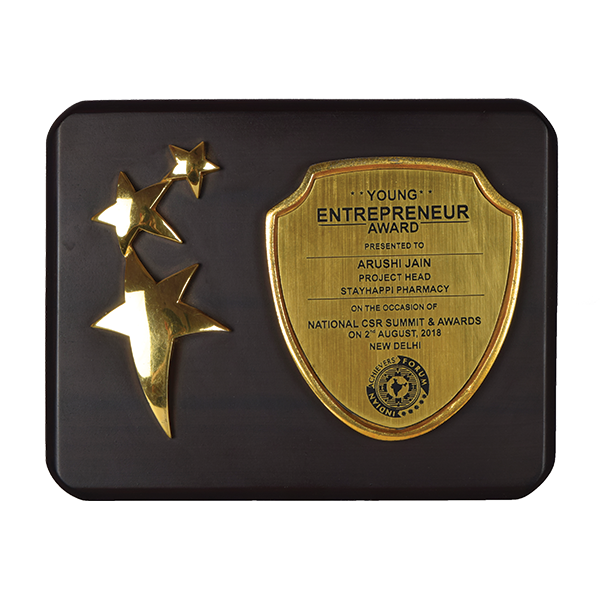 StayHappi Pharmacy - Award from young Entrepreneur