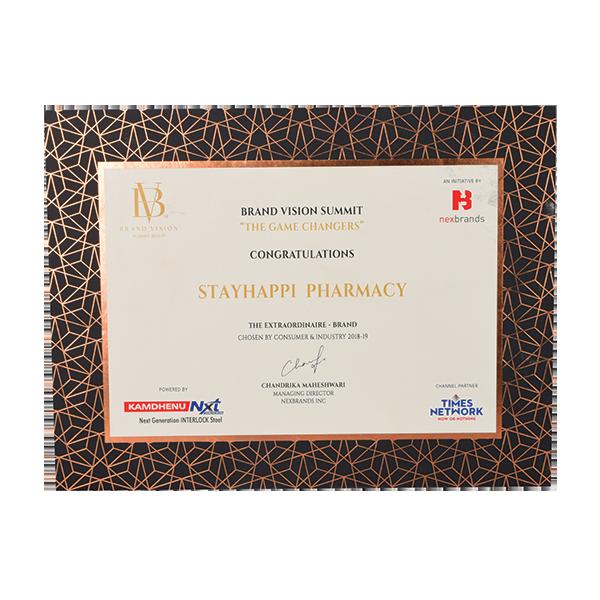 StayHappi Pharmacy - Brand Vision Summit Award