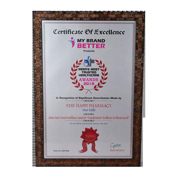 StayHappi Pharmacy - Award from My Brand Better