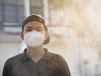 Being in an area with high pollution