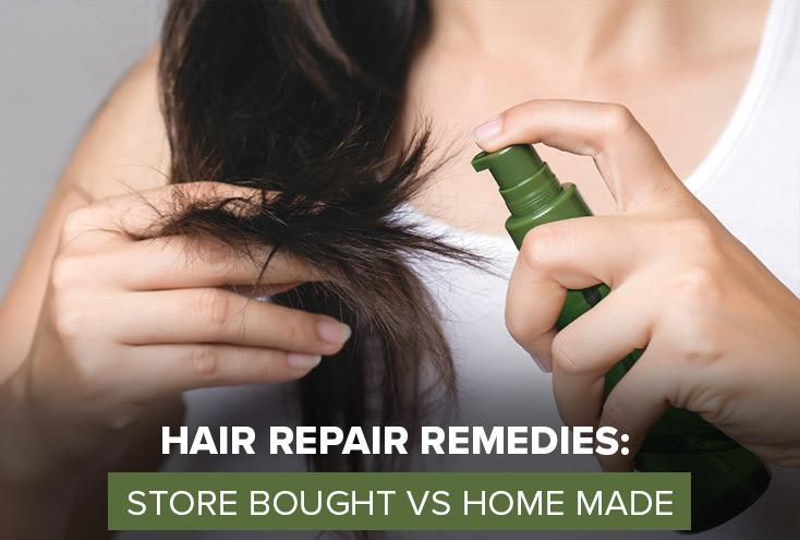 Hair Repair Remedies: Store Bought vs Home Made